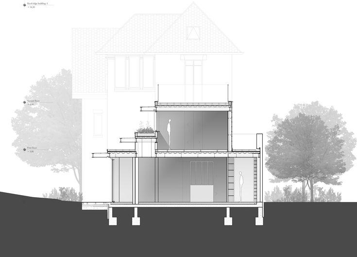 coupe transversale atelierlame architecture maison individuelle hauts de seine maison. Black Bedroom Furniture Sets. Home Design Ideas