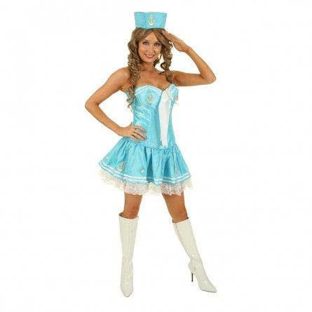 Womens Skye Sailor Corset Costume