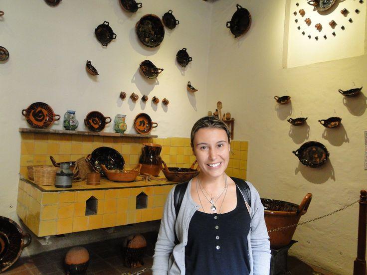 Cozinha poblana em exposição no Museu da Revolução Mexicana.