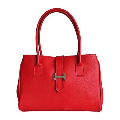 H-Lock Italian Red Leather Shoulder Bag - Down to £49.99 from £59.99