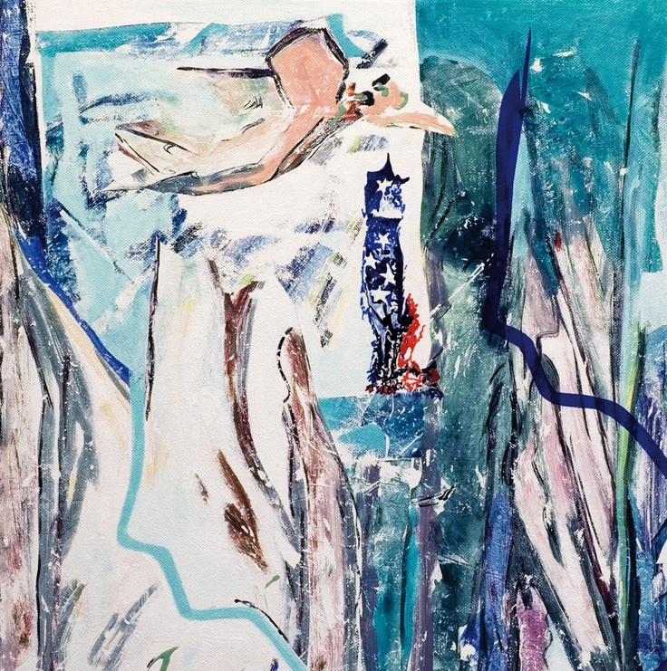 Claudio Spanti - Doppio gioco - Acrylique sur toile - cm 40x40 - 2011