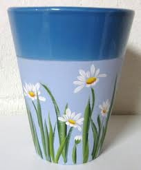 hand painted flower pots - Google Search