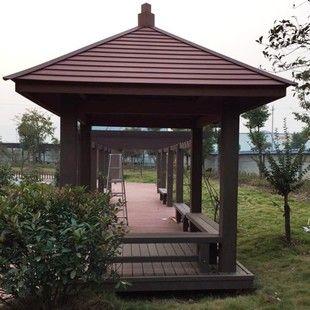 Building leisure pavilion Environmentally friendly wooden pavilion