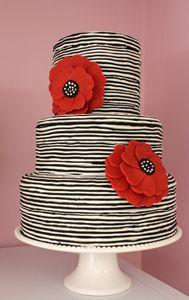 striped cake..I like!