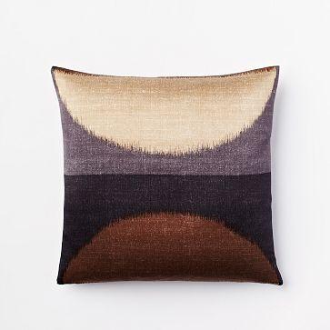 ikat moon silk pillow cover slate westelm living room. Black Bedroom Furniture Sets. Home Design Ideas