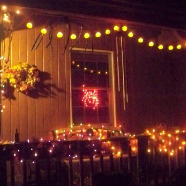 halloween lights in great colors - Halloween Light Ideas