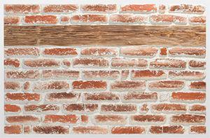 Ahşap Şeritli Eski Kırmızı Tuğla Akrilik Duvar Paneli, Tuğla Akrilik Duvar Paneli Tuğla Model Akrilik Duvar Paneli Yanmaz Panel Akrilik Panel Silikat Koku yapmaz Su bazlı panel