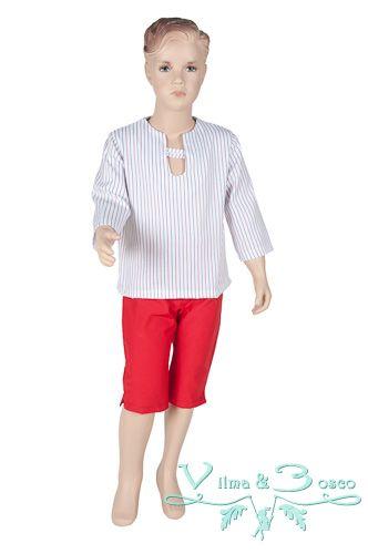 Vilma & Bosco ~ Colección Primavera Verano 2014 | #Conjunto de niño - Familia #Marina | #Moda #infantil, diseños para bebés, niños y niñas hasta los 10 años | #celebraciones