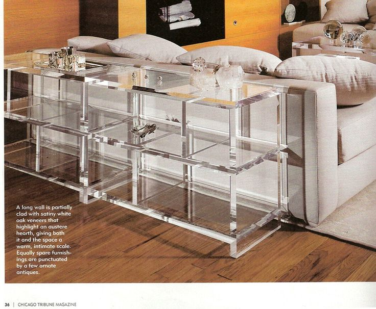 Lucite Bookcase....I *heart* this!