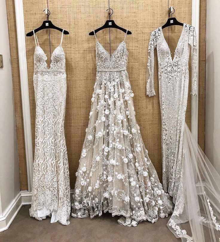 {Wedding Dress Inspo}To sleeve or not to sleeve. Train or no? Sparkles or more s… – Victoria nuneviller