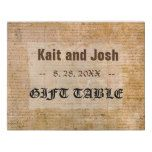 Declaration of Independence USA Gift Table Sign
