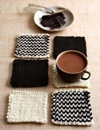 Knitted Coasters!! Look familiar @Claire Haskell Watson?