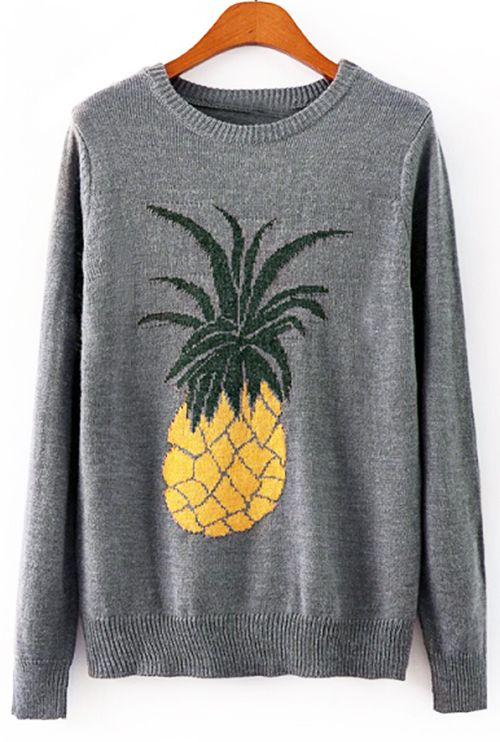 Taste this pineapple and you'll never leave without it! $29.99 Only with free shipping&easy return! This cute ribbed piece is featured by delicate knitting&soft fabric! Complete your cozy daily look with Cupshe.com
