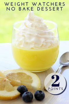 No bake, 2 ingredient, weight watchers dessert. Tastes like yummy lemon meringue
