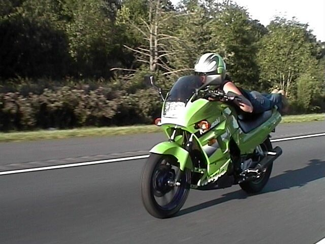 2000 Lime Green Kawasaki Ninja 250cc