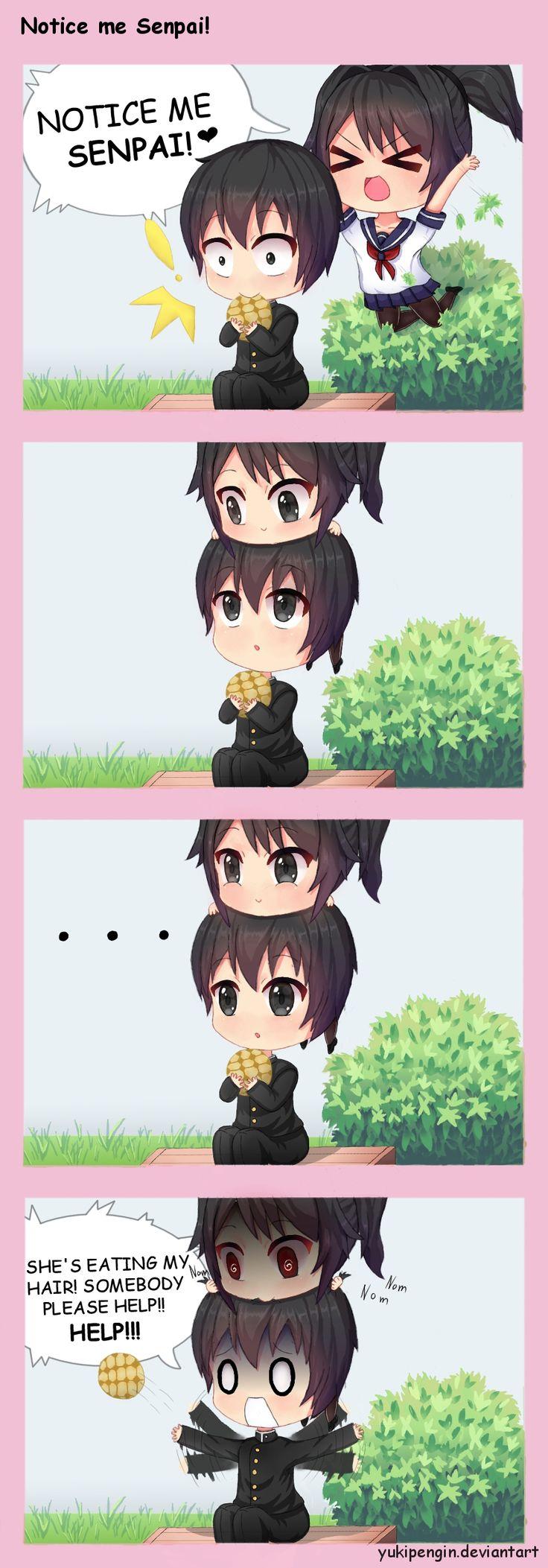 Notice me Senpai! by Yukipengin on DeviantArt