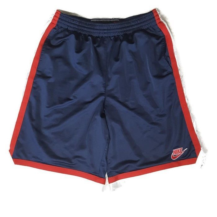 red and white nike shorts