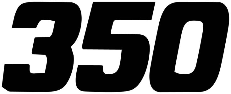 General motors chevrolet chevy 350 engine size vinyl decal car stickers pair