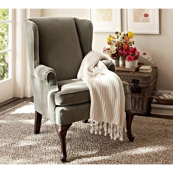 Sitting Area Or Formal Living Room In Natural Color Gramercy Wingback Chair