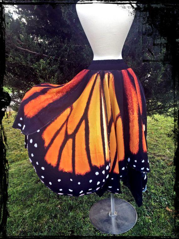 Monarch vlinder vleugels rok op maat voor u  elke door annaladymoon