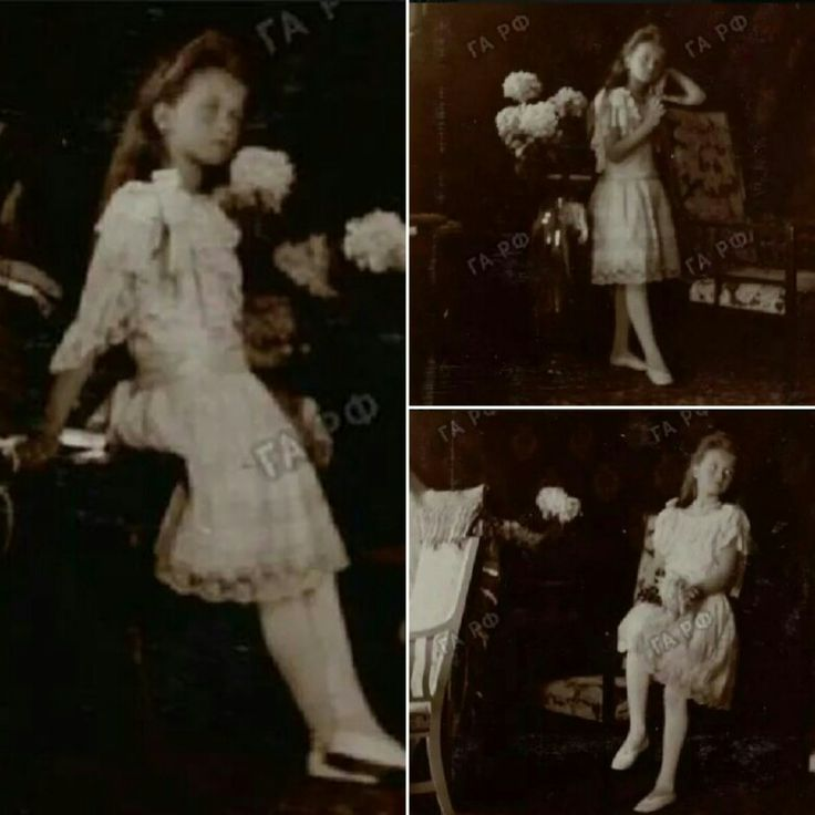 These photographs of Grand Duchess Olga Nikolaevna were taken during a photographic session (probably by Alexandra) with the court photographer in 1906.