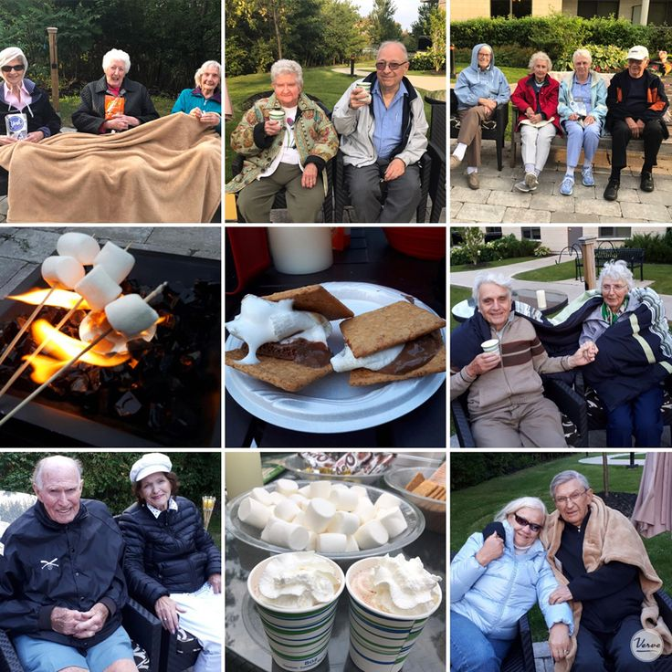 The residents loved this evening campfire event! Nothing like roasting marshmallows, singing by the fire and dancing with friends!