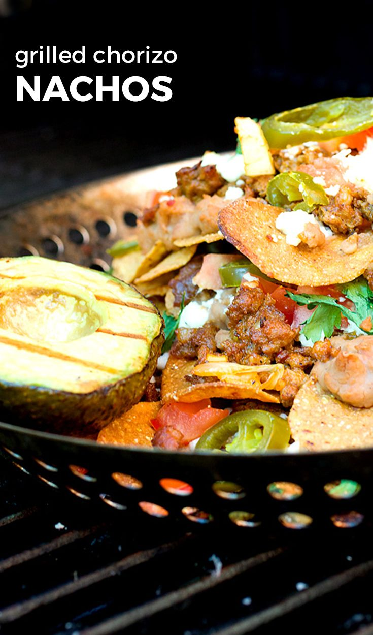 How to cook nachos on a grill! This version uses Food Should Taste Good™ Sweet Potato Chips. This is the perfect recipe to learn how to make a plate of nachos outside, easily!
