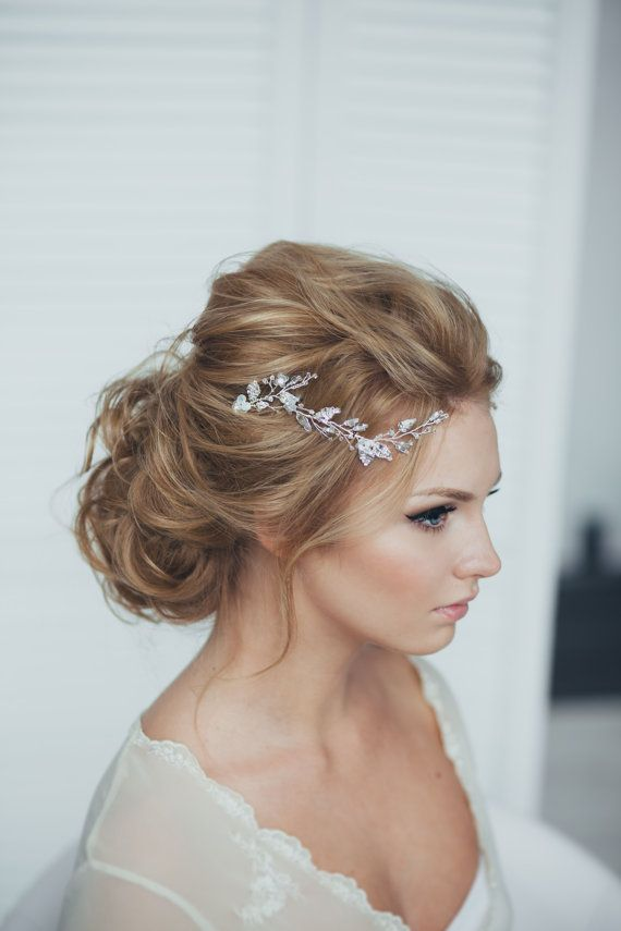 This is the set of hair pins, consisting of two pieces.  This bridal headpiece is a perfect alternative to a bridal hair comb. Play with various
