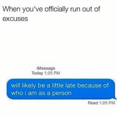 best excuse