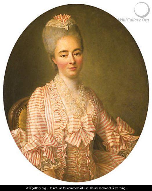 Presumed to be Yvonette Moulin de la Racinire, mid 18th C by Francois-Hubert Drouais