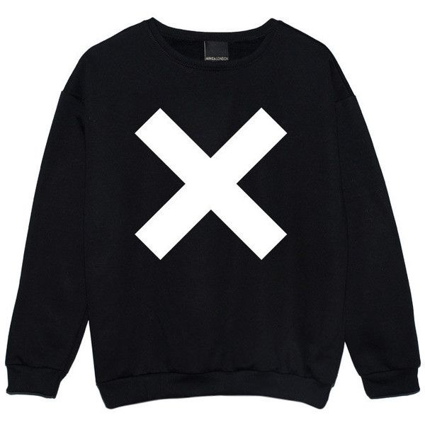 Cross Sweater Jumper Womens Ladies Fun Tumblr Hipster Swag Fashion... (£14) ❤ liked on Polyvore featuring tops, hoodies, sweatshirts, sweaters, shirts, black, women's clothing, cross shirt, hipster sweatshirts and black star shirt