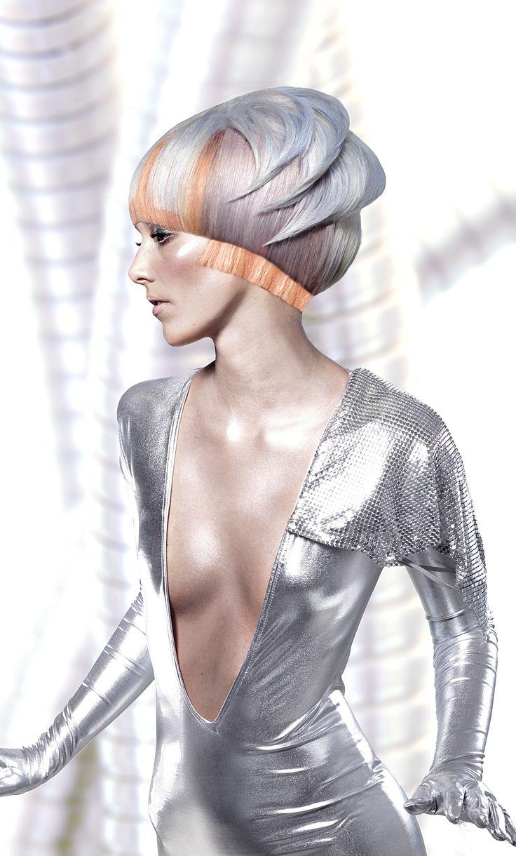 futuristic fashion | ... , hairstyle, silver hair, girl in silver, futuristic look, fashion