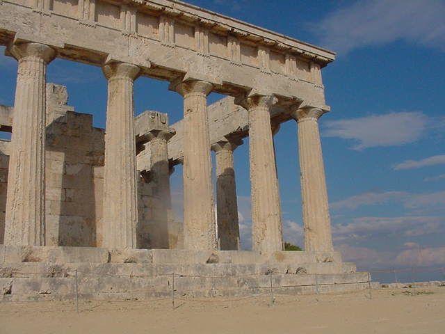 Aphaia temple on Aegina Island