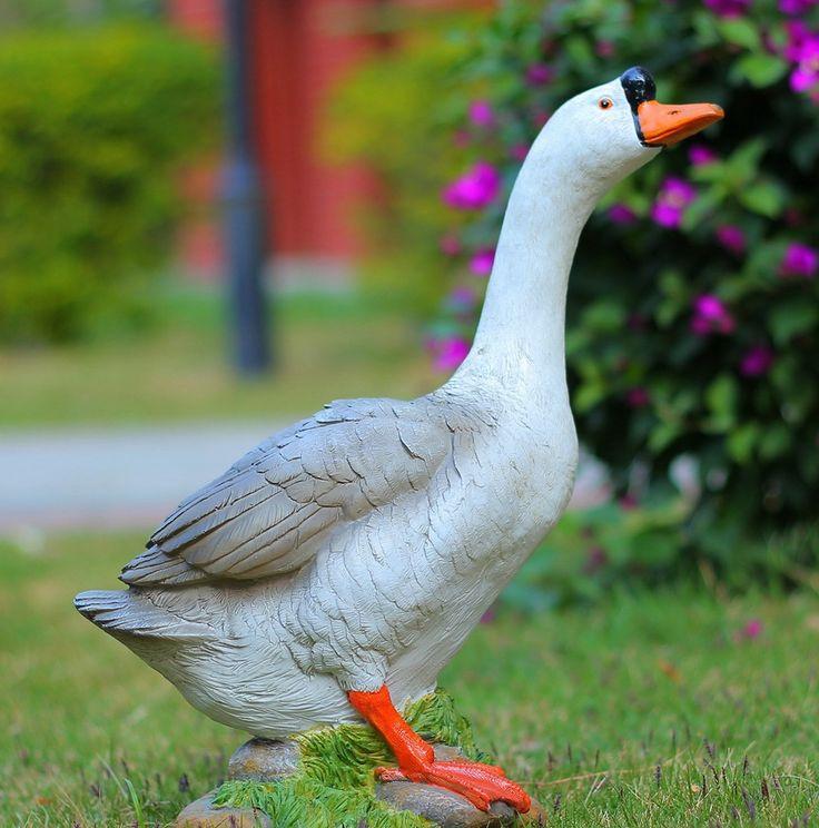 Hars ambachten woondecoratie villa balkon outdoor tuin ornamenten simulatie  gevogelte Grey Goose(China (Mainland