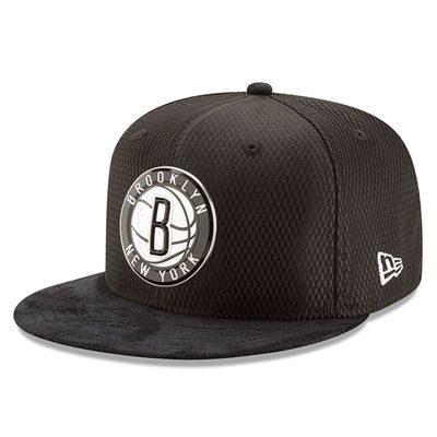 Men's Brooklyn Nets New Era Black 2017 NBA Draft Official On Court Collection 59FIFTY Fitted Hat