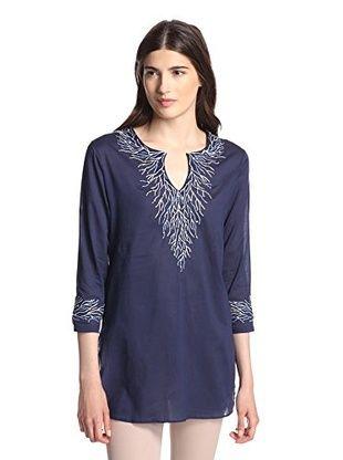 41% OFF Saachi Women's Embroidered Vineyard Tunic (Navy)