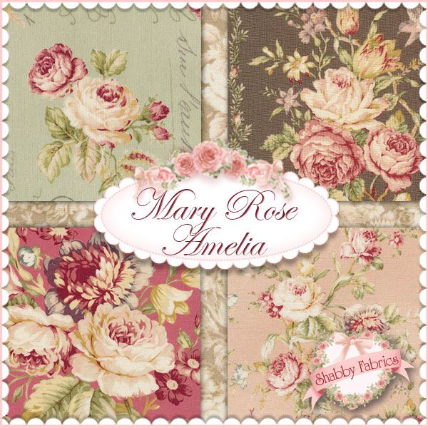 A beautiful, Victorian-inspired collection from Quilt Gate Fabrics ... : rose quilt fabric - Adamdwight.com