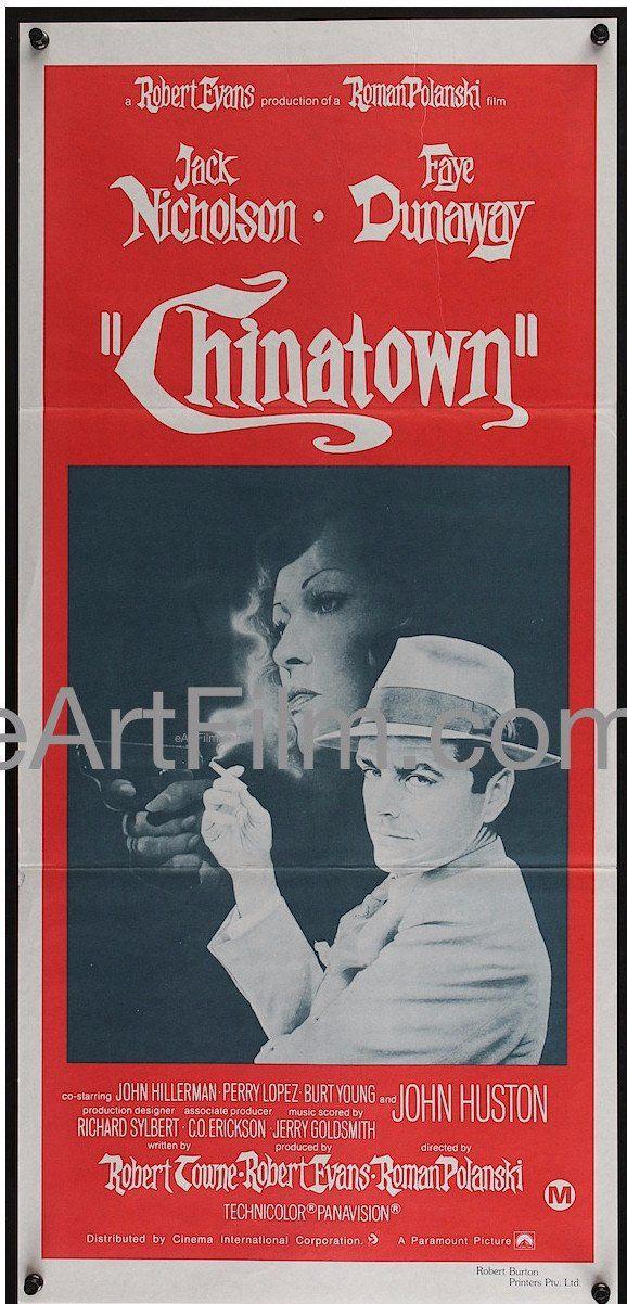 Happy Birthday #JackNicholson https://eartfilm.com/search?q=jack+nicholson #actors #acting #JackNicholsonDay #Chinatown #EasyRider #CarnalKnowledge #CuckoosNest #movies #film #cinema #posters #movieposters    Chinatown-Roman Polanski-Jack Nicholson-Faye Dunaway-Australian-13x28
