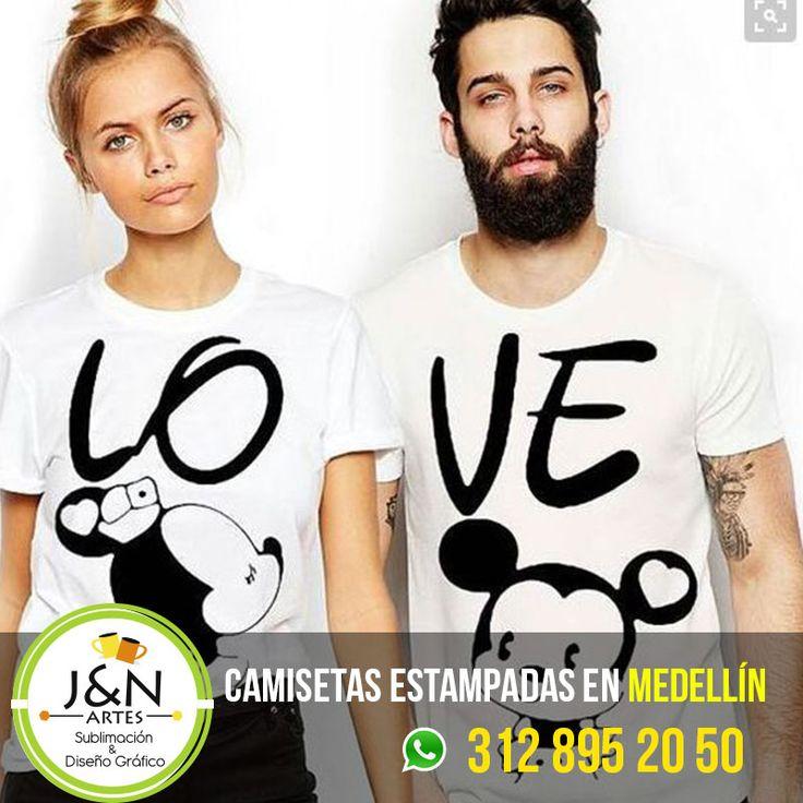 Camisetas Love en Medellin para Novios y Parejas