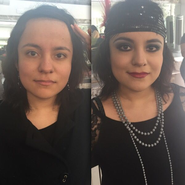 Before and after VeLma Kelly inspired Makeup