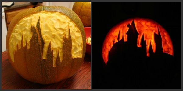 pumpkin carving patterns hogwarts pumpkin carving Halloween decor