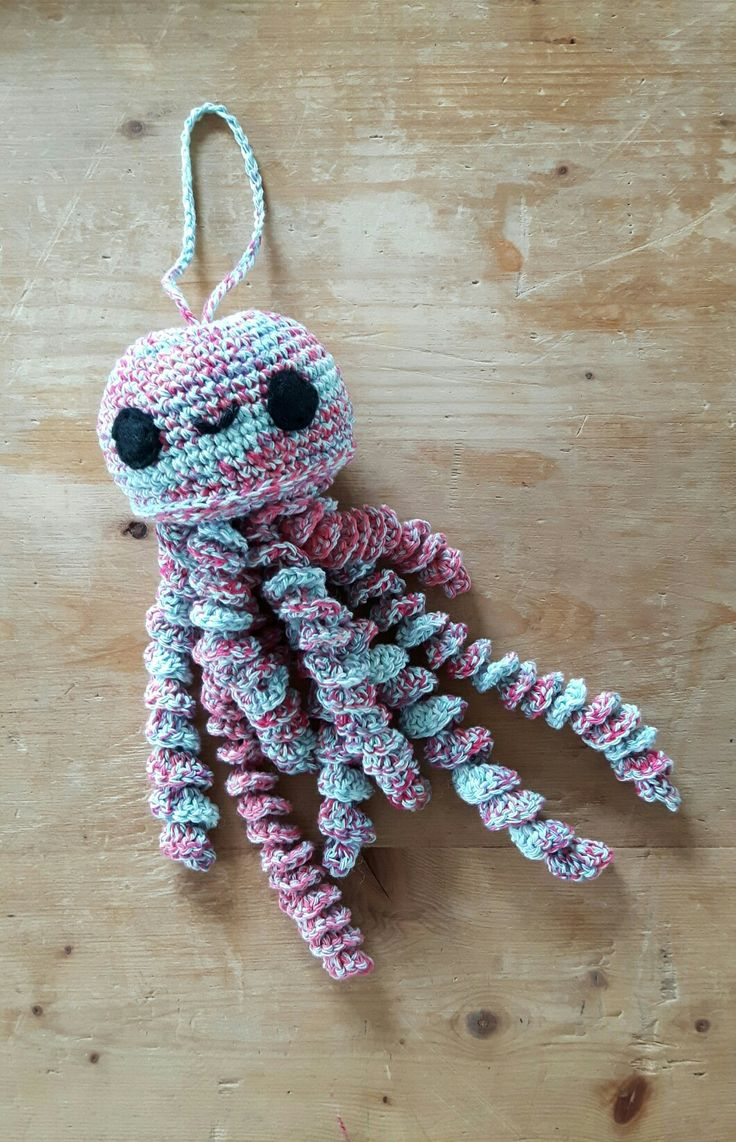 11 best crochet jellyfish images on pinterest crocheted cute crochet jellyfish which ive just finished i added felt eyes sewn bankloansurffo Choice Image