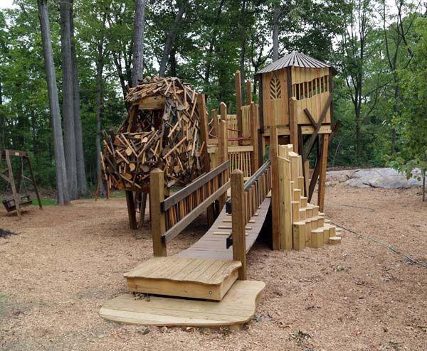 Playground wood google p layground pinterest playground and woods - Natural playgrounds for children ...