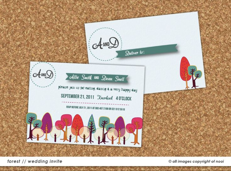 Allie & Dean's Wedding Invite  www.nooievents.co.za