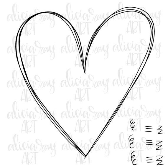 Heart Doodle With Transparent Inside Png Sublimation Hand Etsy Heart Doodle How To Draw Hands Heart Drawing