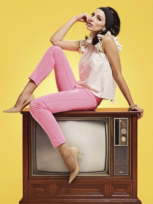Jessica Pare (Mad Men's Megan Draper nee Calvet) by Zachary Scott, 2012