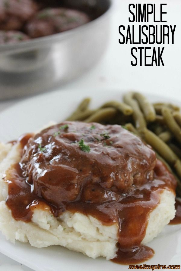 Yummy Salisbury Steak Recipe - http://mealinspire.com/yummy-salisbury-steak-recipe/ This special salisbury steak recipe will a perfect meal idea for dinner. An easy recipe that is inexpensive as well as tasty.             Extra ingredients i have used to set this apart from the traditional recipe is breadcrumbs,mustard and...