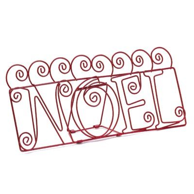 """Noel Greeting Card Holder (Item #14884)  Display your cherished season's greeting cards with décor fit for the holidays. Fold out stand shares a message of good Christmas tidings all its own as well! Item weight: 0.4 lb. 12"""" x 2½"""" x 5½"""" high. Metal."""