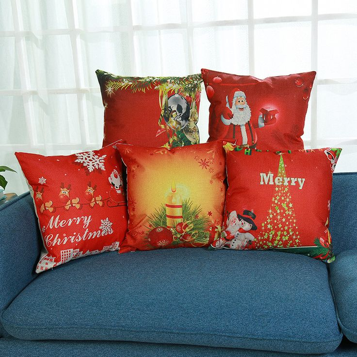 Find More Cushion Cover Information about Cushion Cover Christmas Festival Gifts 45X45cm Santa Snowman Pillow Covers Sofa Throw Pillowcase Bedroom Sofa Home Decoration,High Quality cushion cover,China christmas cushion covers Suppliers, Cheap cushion cover home decor from WK HomeTextiles Store on Aliexpress.com