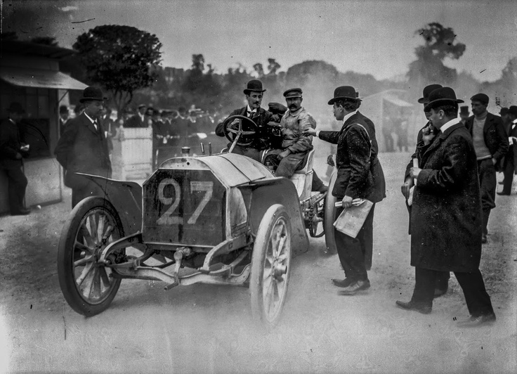 April 1st, 1903: Double victory for Otto Hieronimus and Wilhelm Werner on their 60 hp Mercedes-Simplex models at the grueling Nice - La Turbie hill climb.